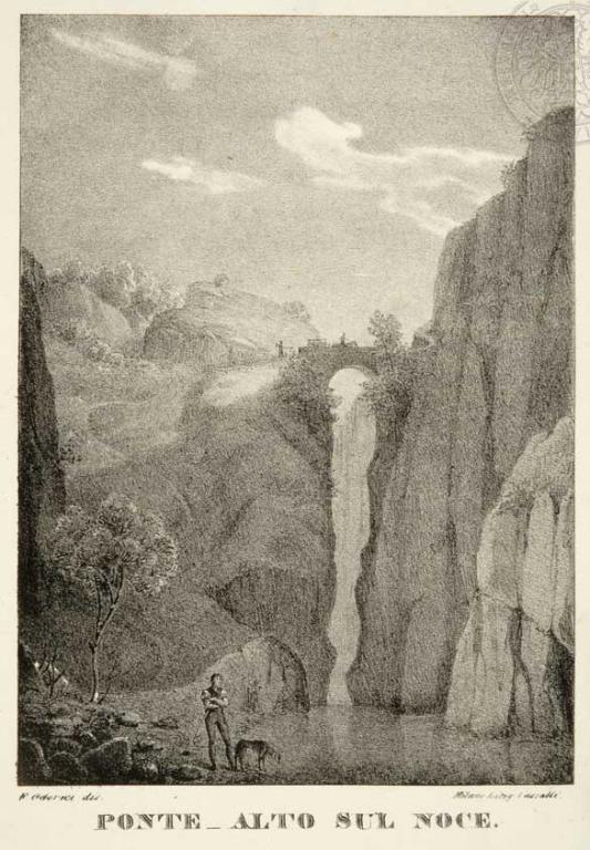 ponte alto sul noce incisione 1829
