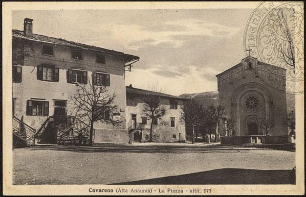 vecchie cartoline Alta Val di Non - Cavareno 1932