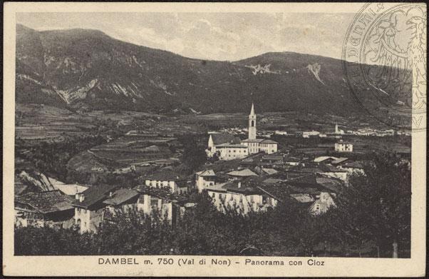 vecchie cartoline alta val di non-Dambel con Cloz 1935