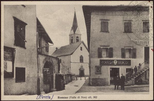 vecchie cartoline Alta Val di Non - Romeno 1940