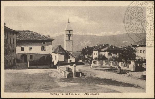 vecchie cartoline Alta Val di Non - Ronzone 1920-1930