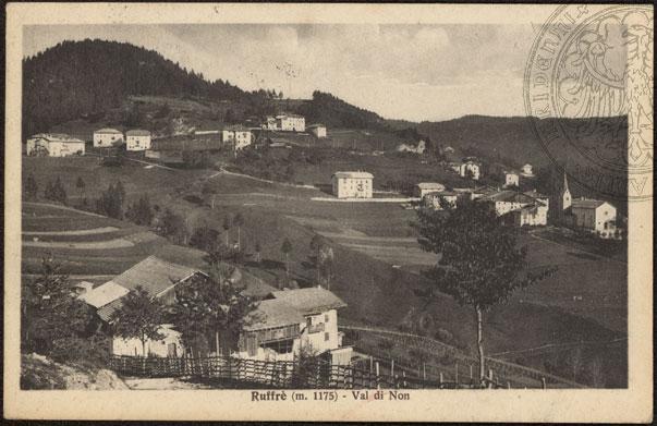 vecchie cartoline Alta Val di Non - Ruffrè 1929