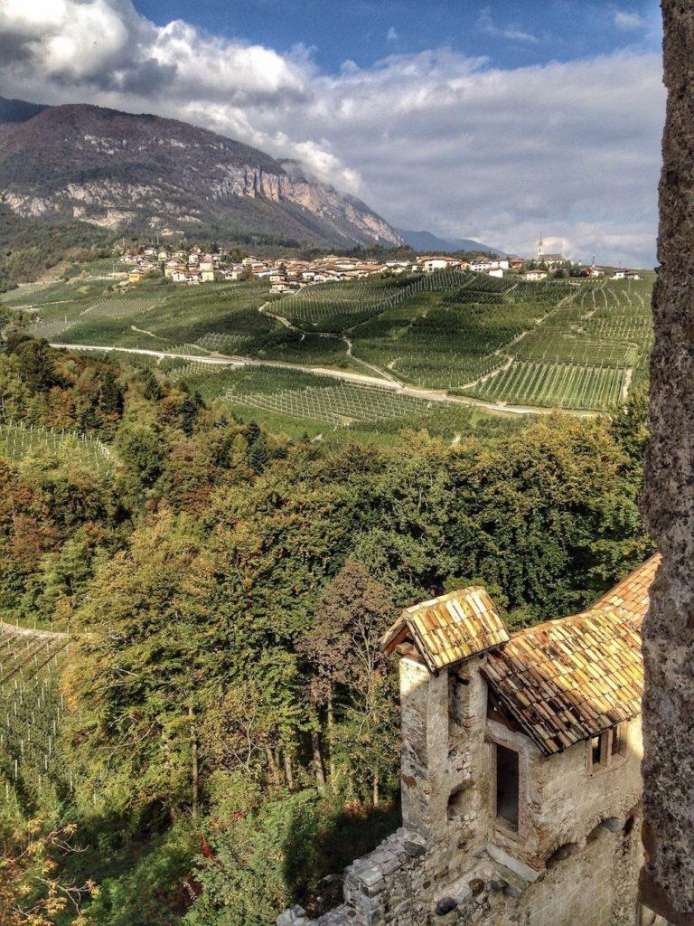 castel belasi-vista su campodenno dalla torre