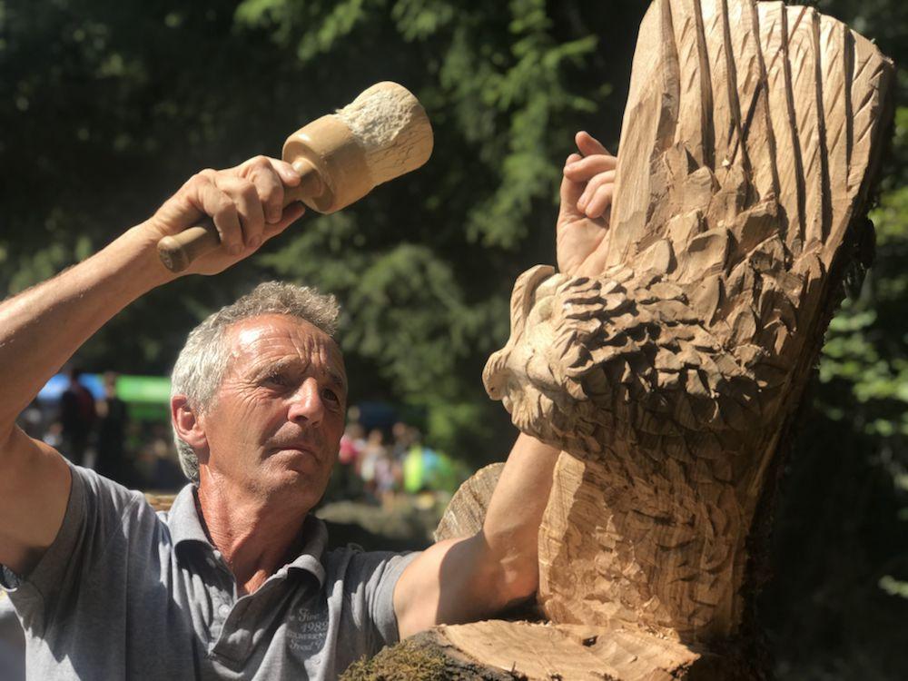 sentiero delle fate-scultore Vito Datres