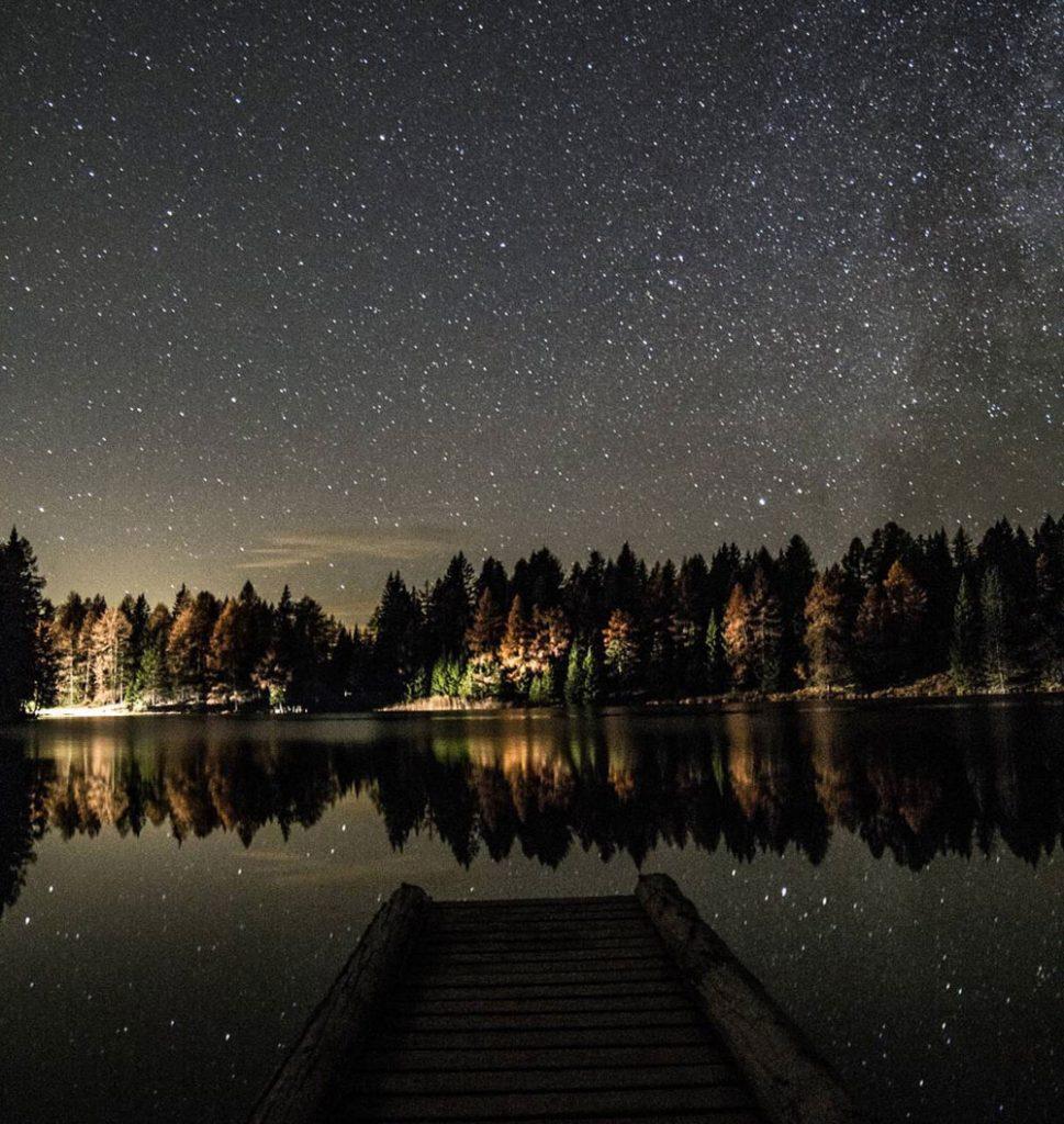 guardare le stelle in val di non-lago-di-Tret-Caterina-Zini