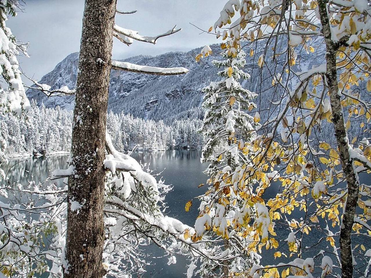inverno in Val di Non-lago di tovel
