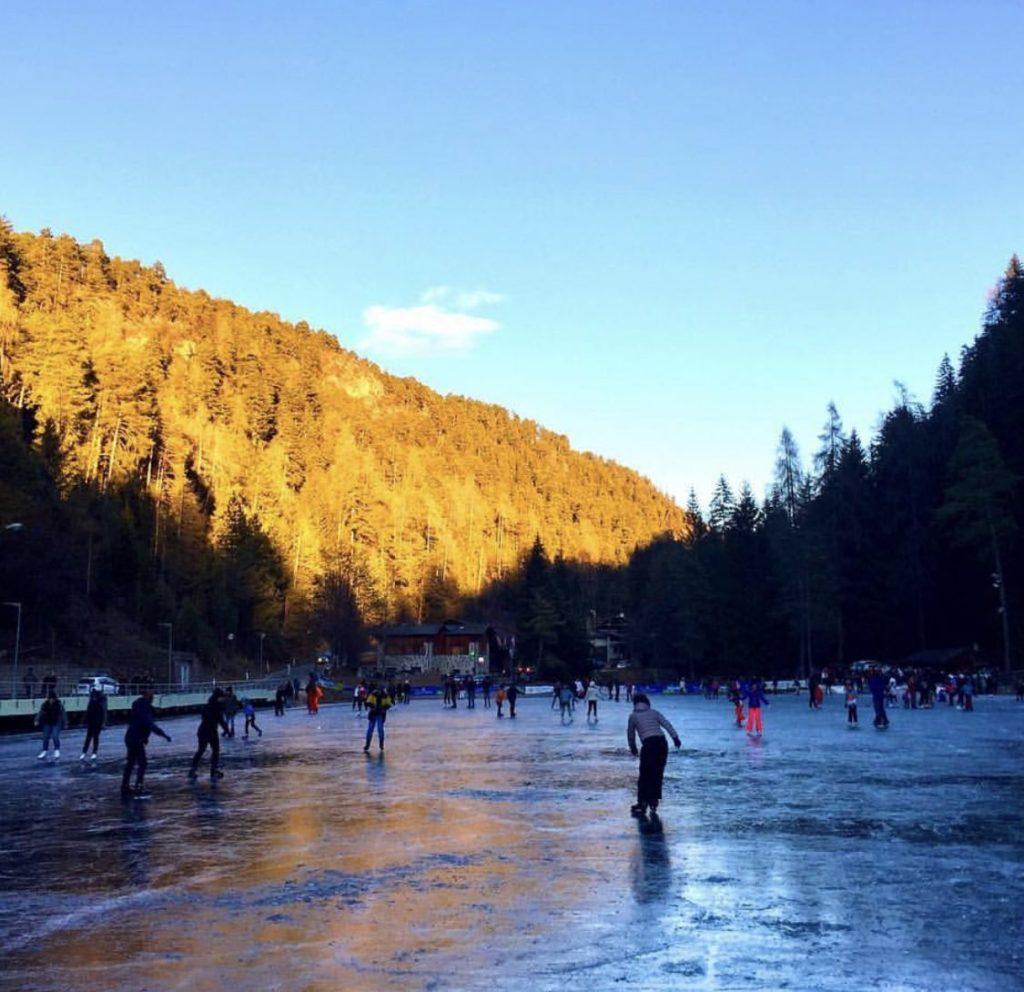 inverno in Val di Non-lago smeraldo