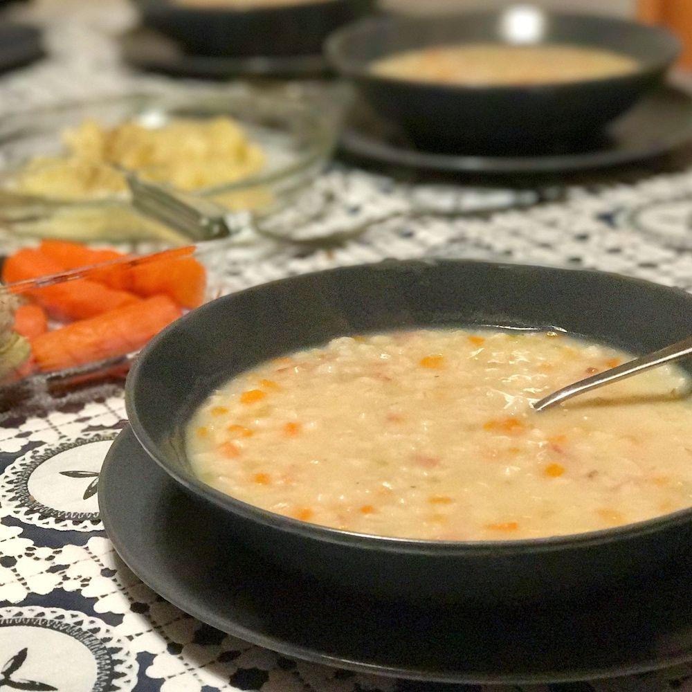 minestra orzo e verdure