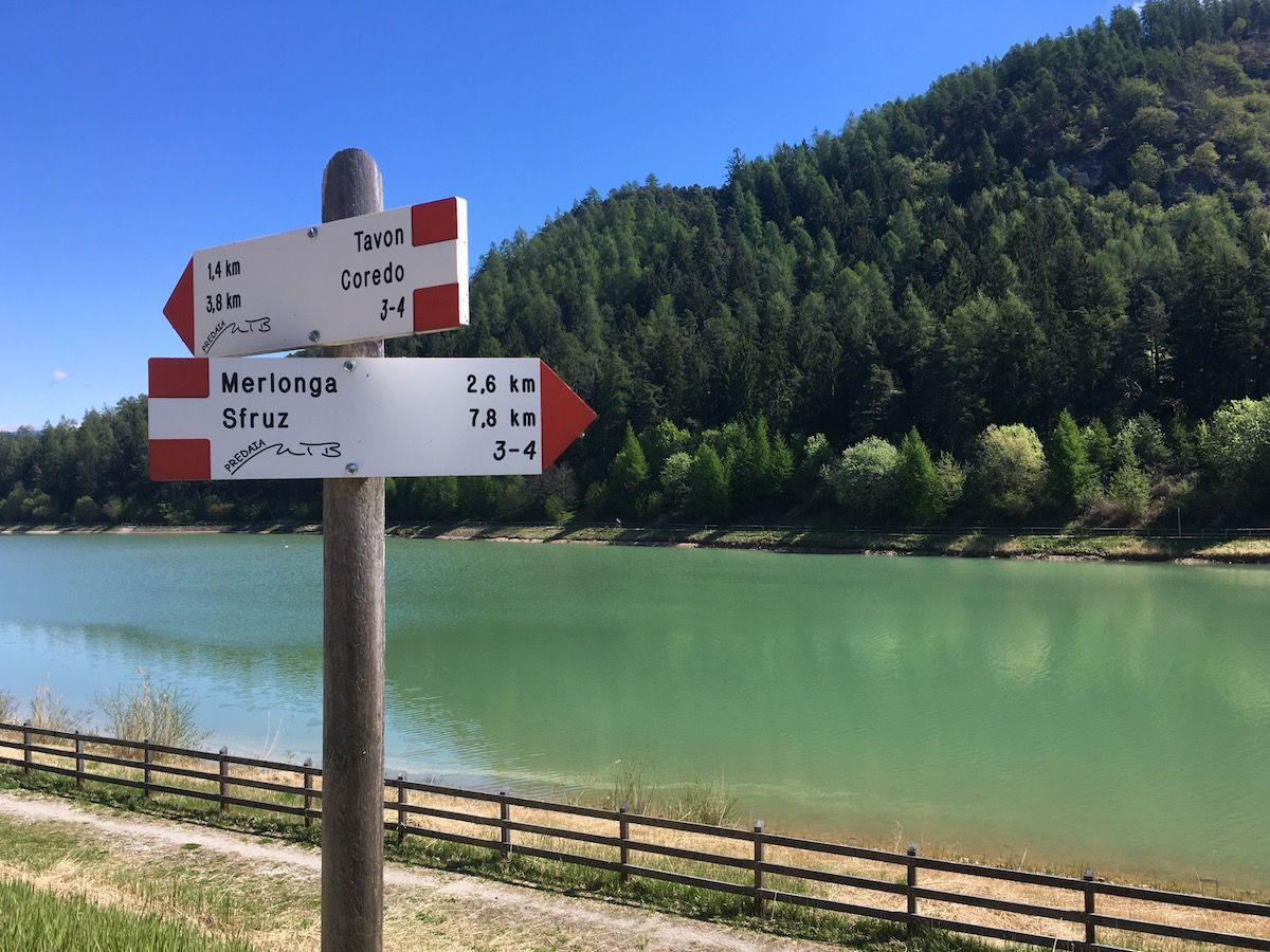 laghi di coredo-itinerari