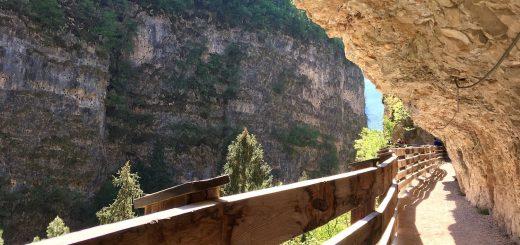 sentiero nella roccia san romedio-ilove val di non