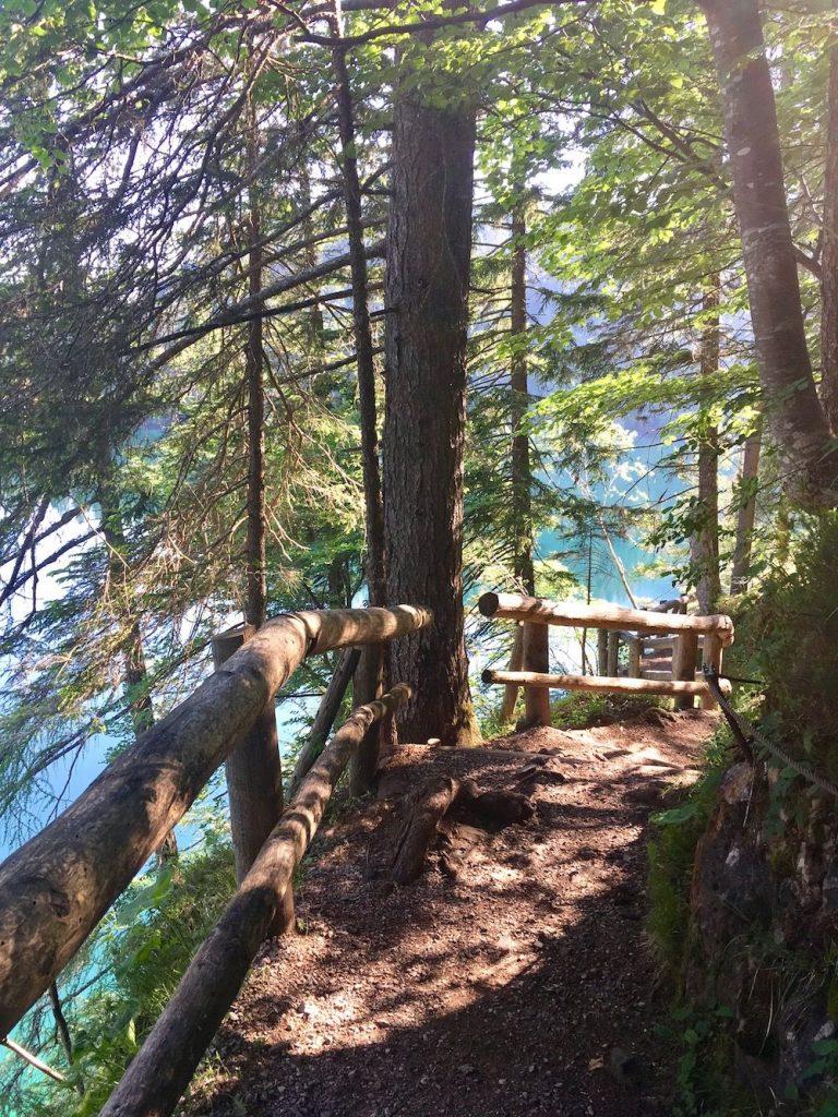 sentiero giro del lago di tovel