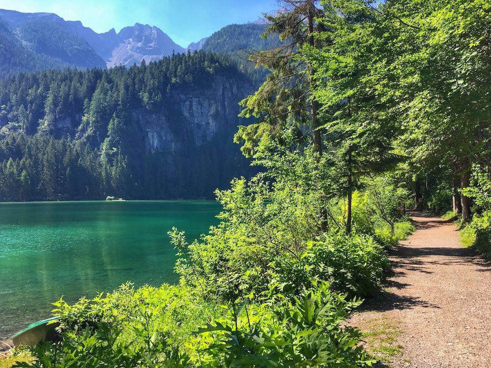 giro del lago di tovel- sentiero