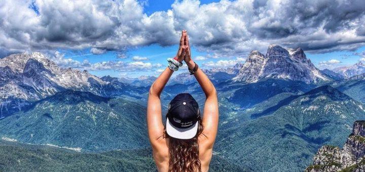 spogliarsi in montagna