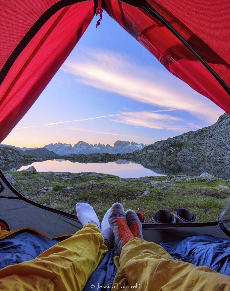 lezioni di vita-condividere-tenda-lago nero-jessica tabarelli