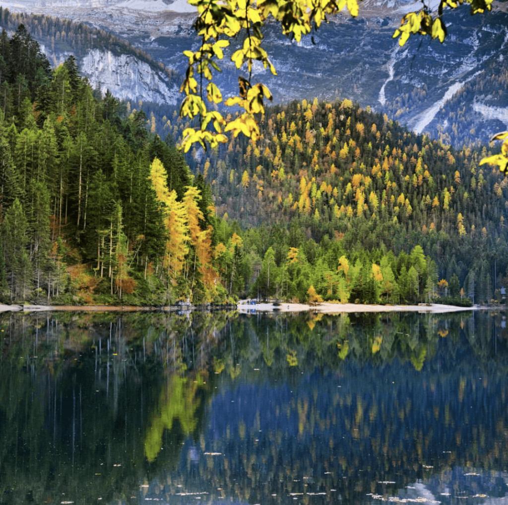 Foliage al lago di tovel guarda esplodere i colori dell for Cabine spartiacque vista lago fontana
