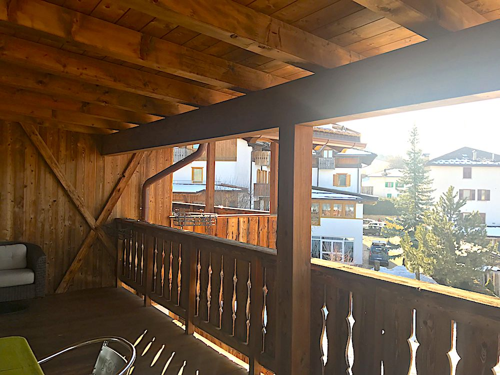 pineta hotels in val di non-terrazza camera