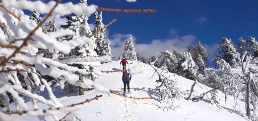 corno di tres in inverno-ciaspole