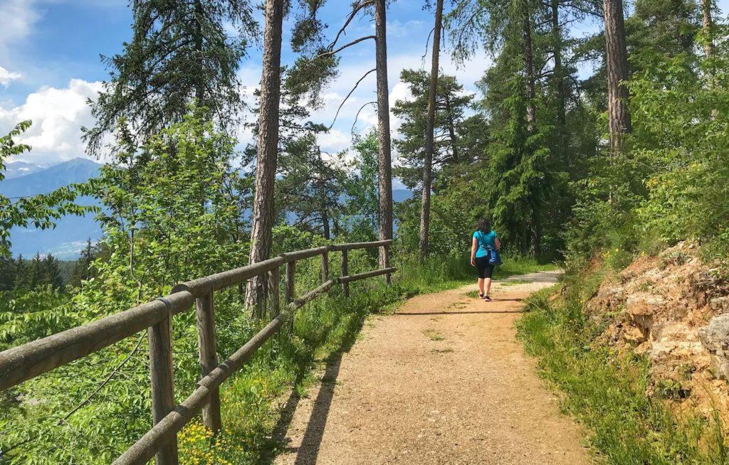 merlonga-passeggiate in passeggino in Val di Non