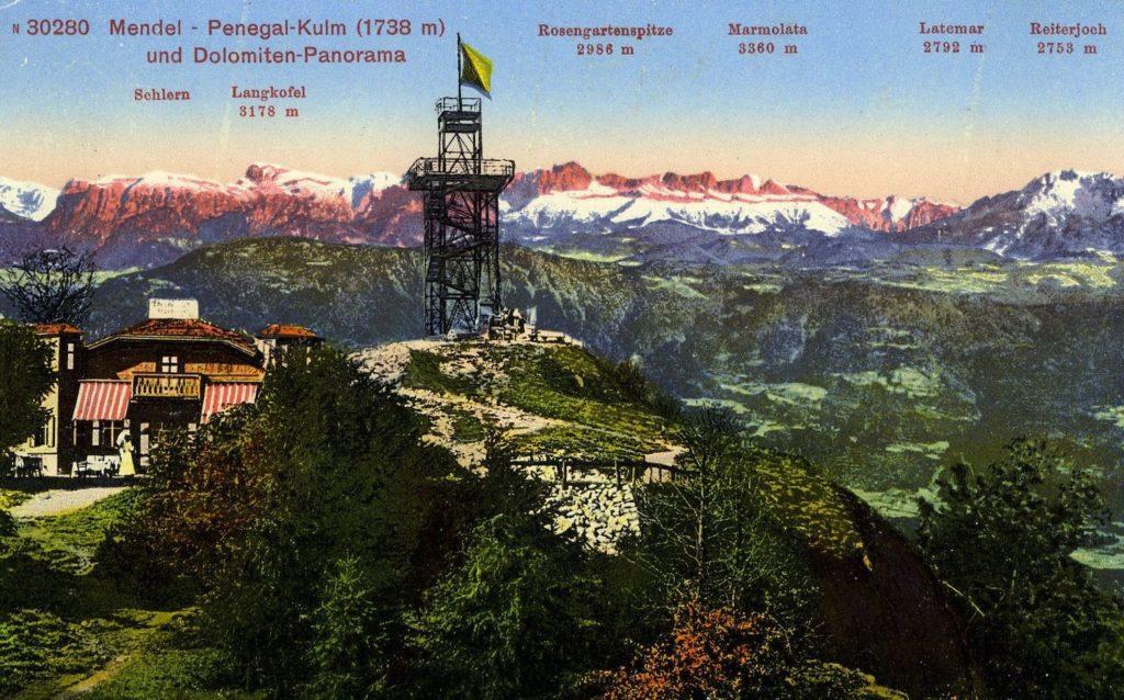 cartolina-come arrivare sul monte penegal