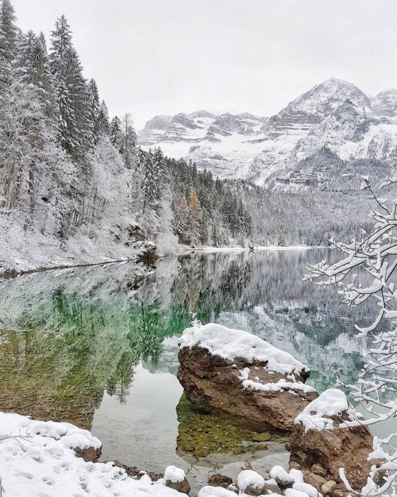 lago di tovel-inverno