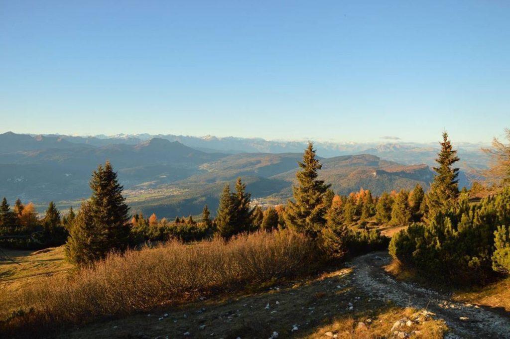 come arrivare sul monte roen-autunno