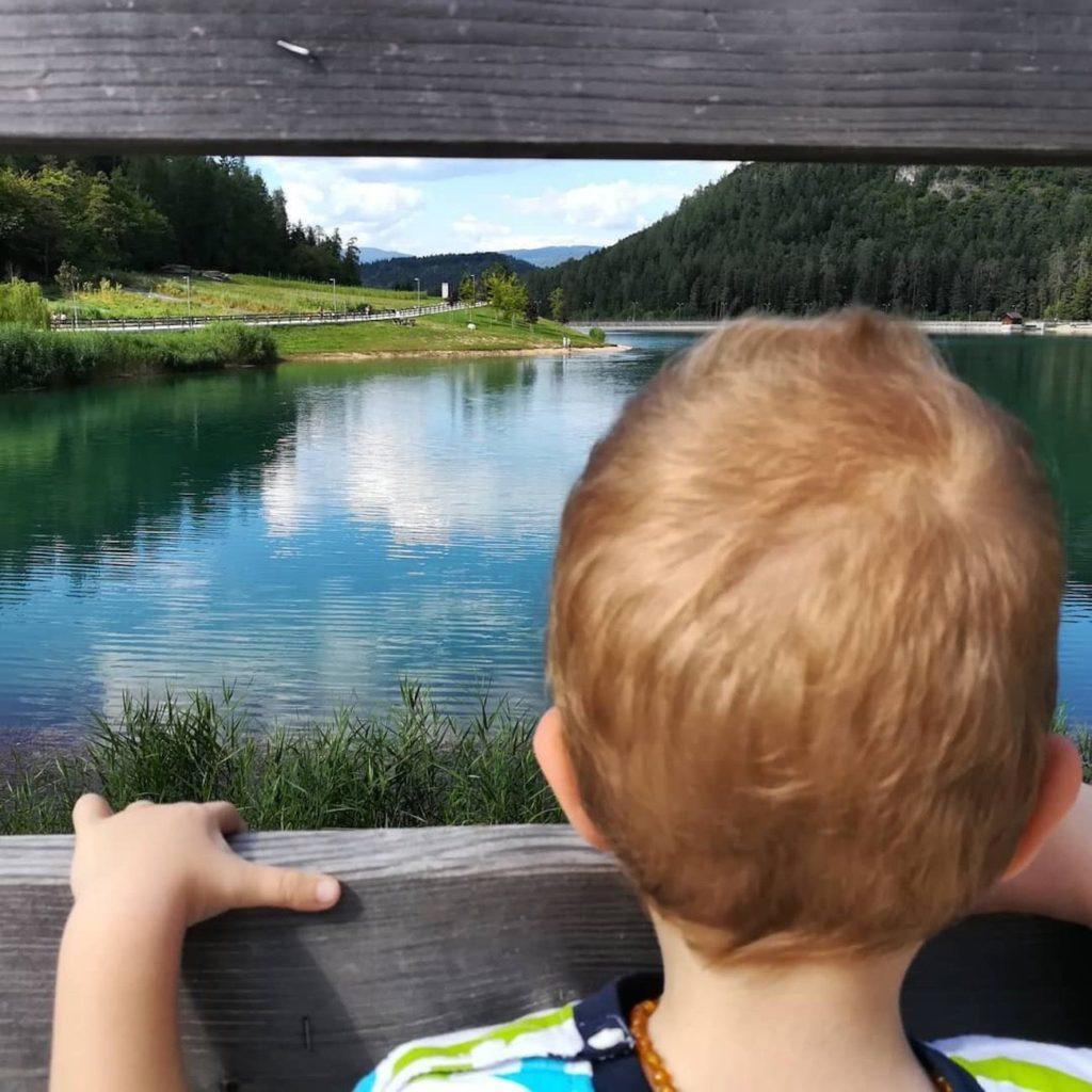 laghi di coredo-passeggiate in passeggino in Val di Non