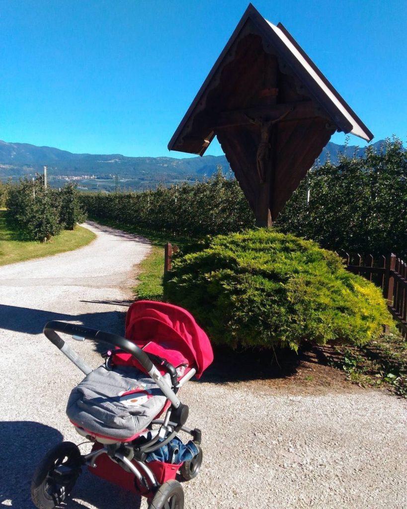 passeggiate in passeggino in Val di Non