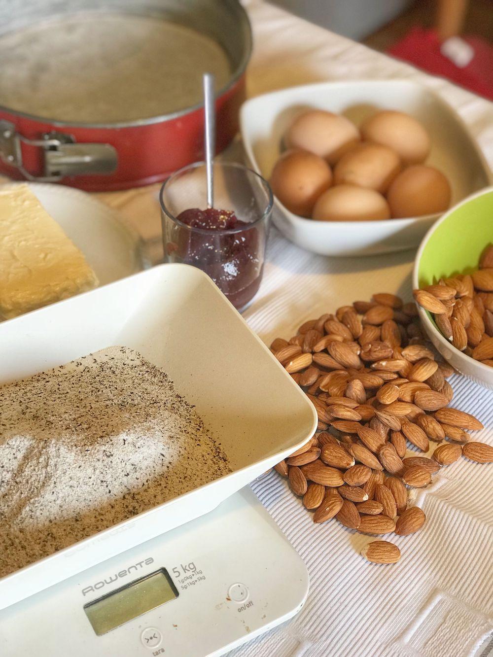 preparazione torta di grano saraceno-ingredienti