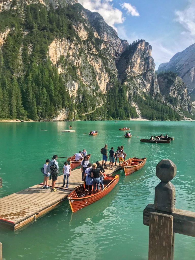 lago di braies-giro in barca