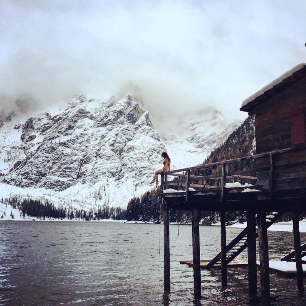 lago di braies-inverno