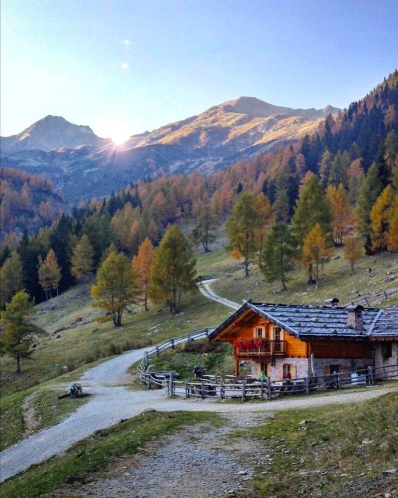 escursioni in val di non in autunno-malga kessel