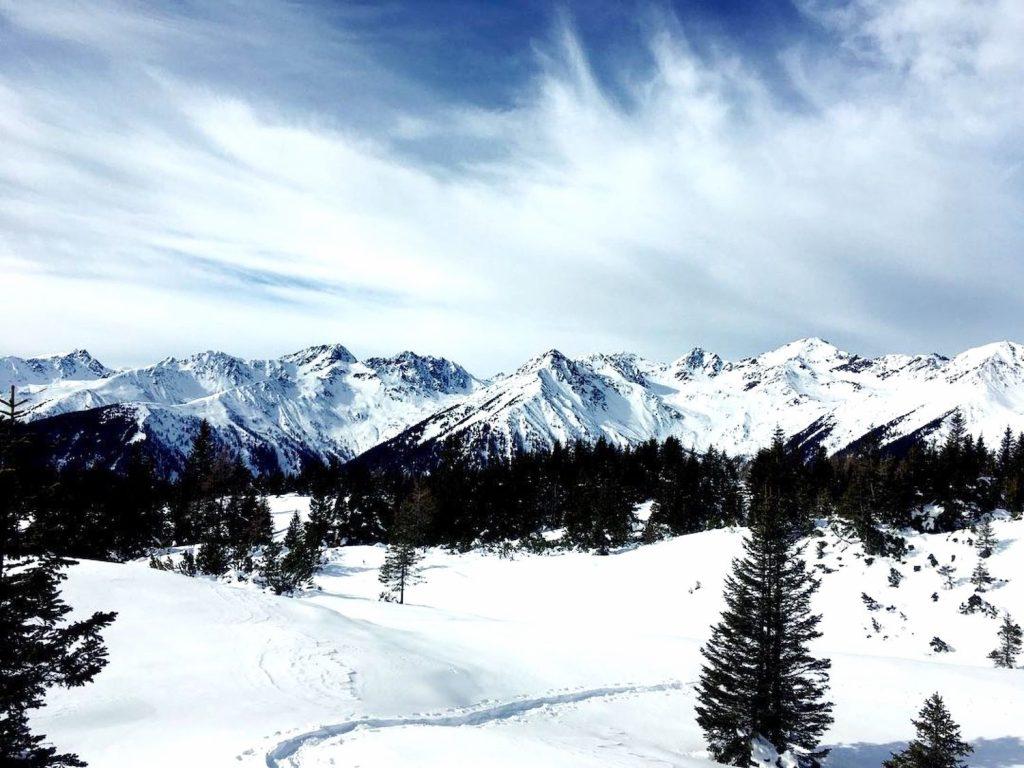 giro monte popi in inverno-vista sulle maddalene