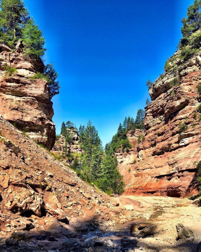 canyon in trentino alto adige-bletterbach