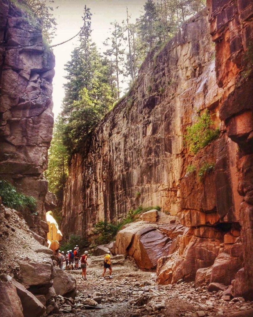 bletterbach-canyon in trentino alto adige