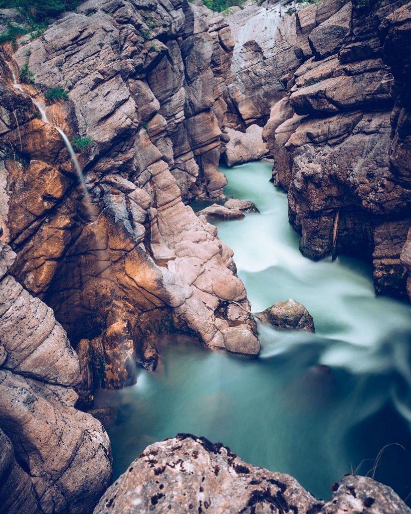 canyon in trentino alto adige-forra del Limarò