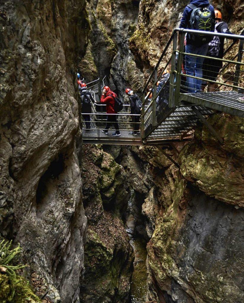 canyon in Val di Non-parco fluviale Novella
