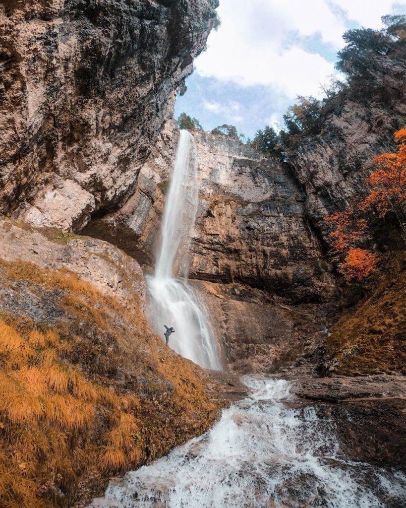 gola della cascata di Tret