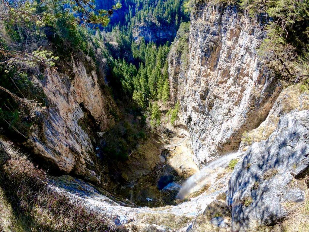 canyon della cascata di Tret