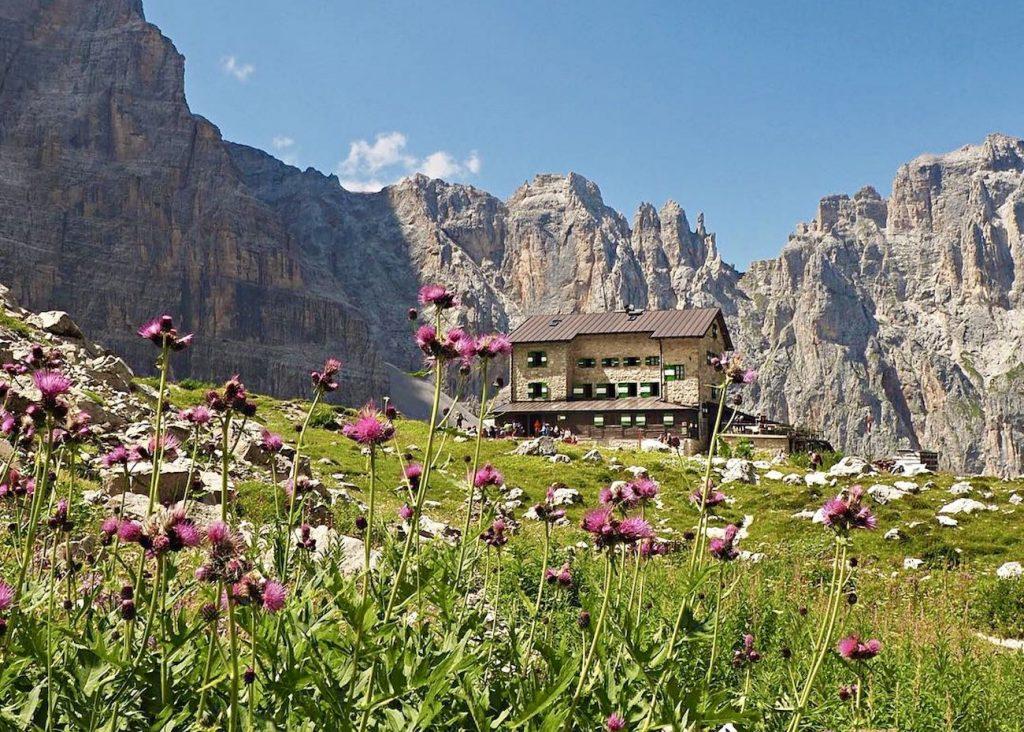 rifugi nelle Dolomiti di Brenta