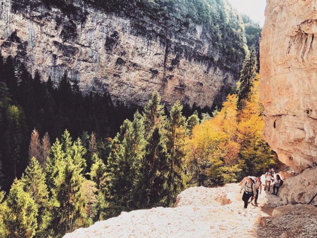 Sentiero del Mondino-canyon del Novella