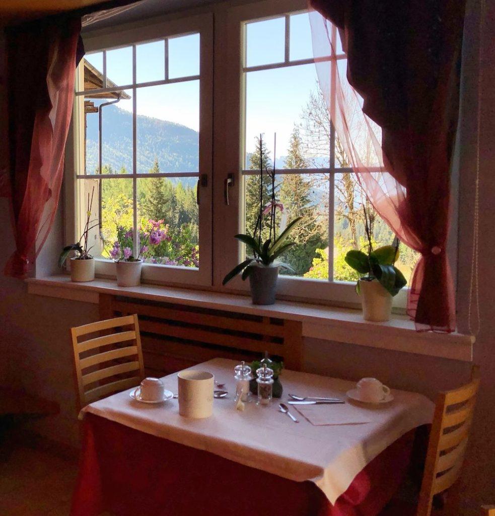 hotel cavallino bianco rumo-sala ristorante