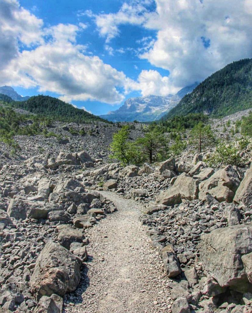 sentiero delle Glare in Val di Tovel