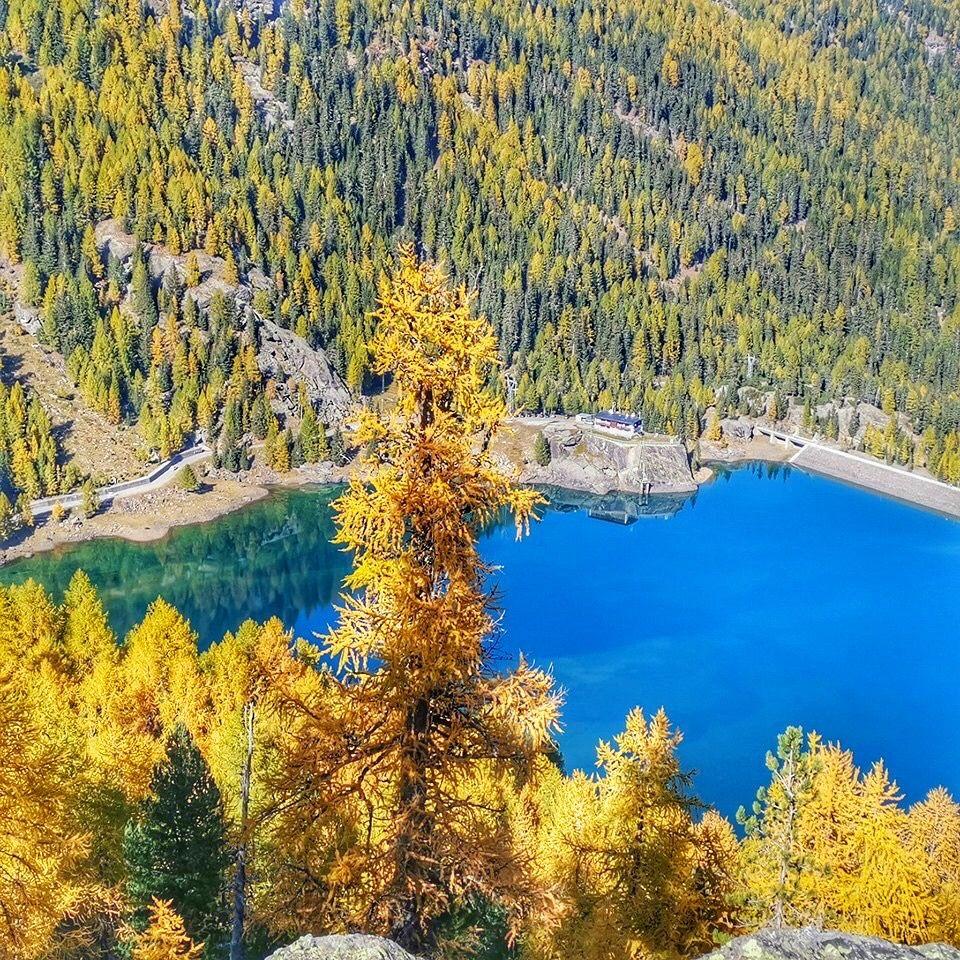laghi in trentino in autunno-lago di fontana bianca
