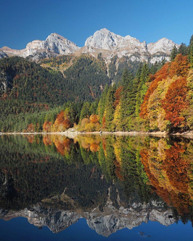 autunno al lago di tovel