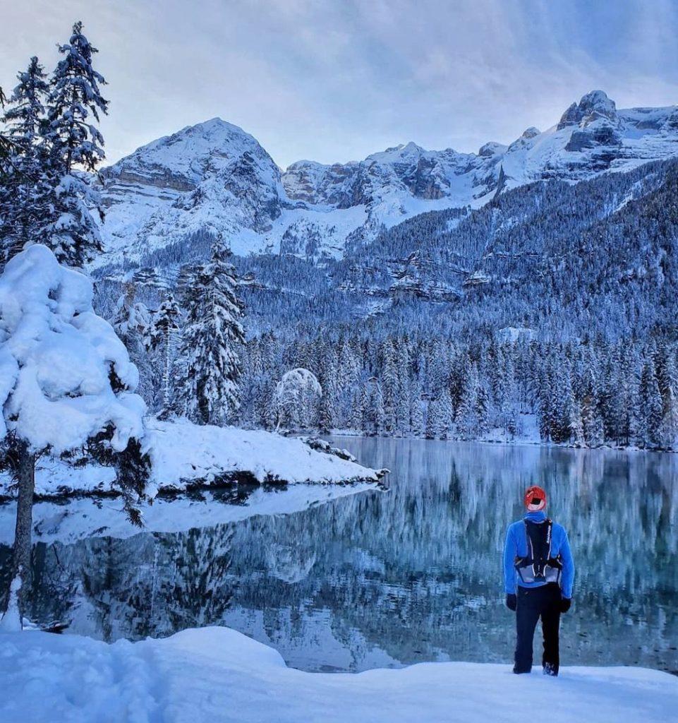 lago di tovel in inverno