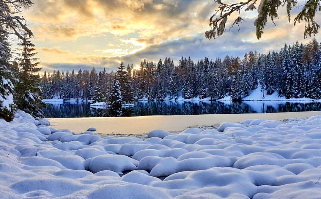 lago di tret inverno