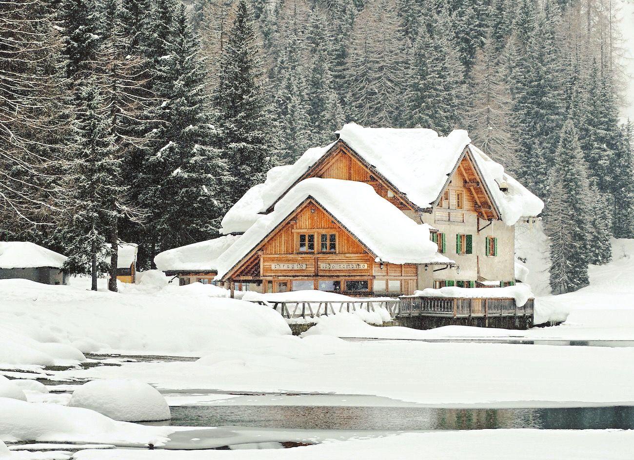 lago nambino inverno