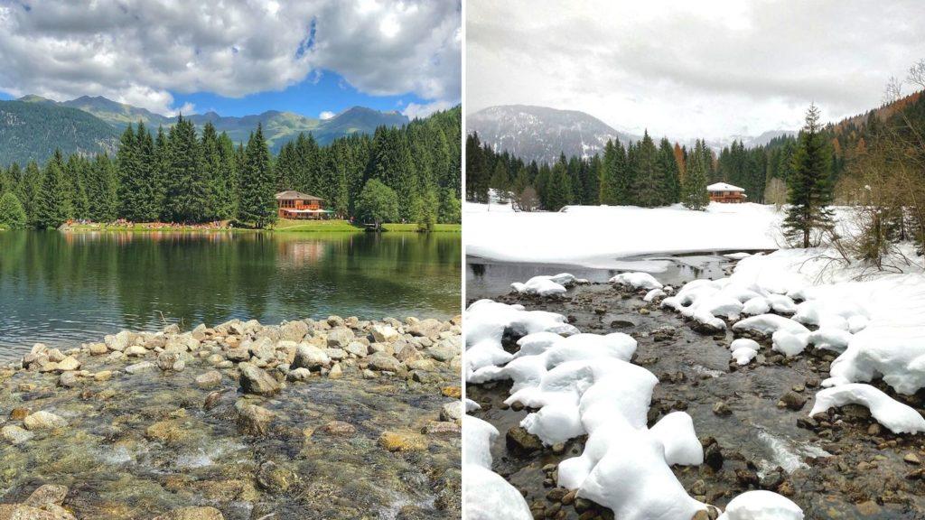 lago dei caprioli confronto estate inverno