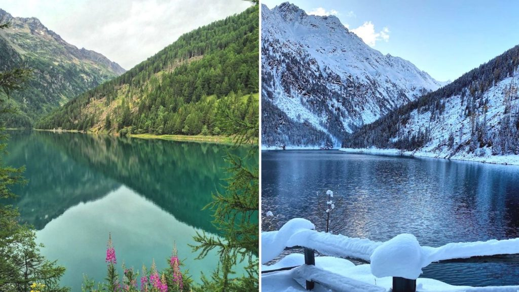 lago di pian palu-confronto estate inverno