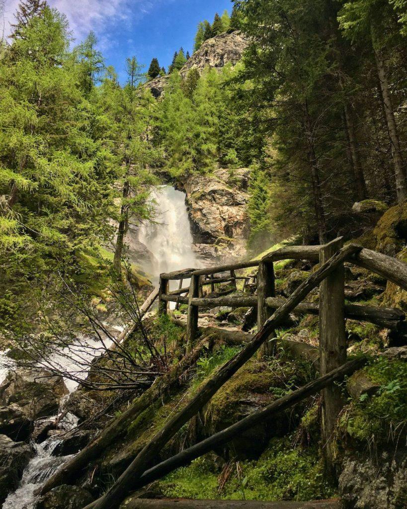 sentiero cascate del saent